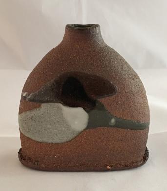 Flask, Wood fired stoneware