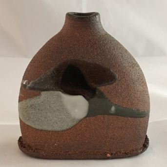 Flask, Wood fired stoneware